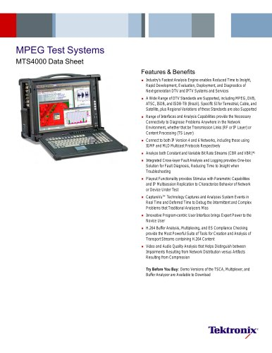 MPEG Test Systems MTS4000