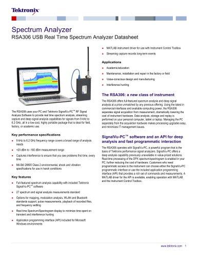 RSA306 USB Real Time Spectrum Analyzer