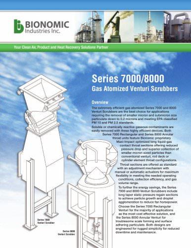 Series 7000/8000 Gas Atomized Venturi Scrubbers