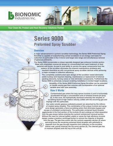 Series 9000 Mist/Performed Spray Scrubber Systems