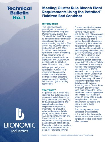 Technical Bulletin No. 1