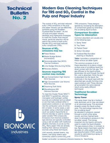 Technical Bulletin No. 2