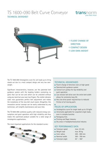 Belt Curve Conveyor TS 1600-090