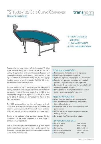 Belt Curve Conveyor TS 1600-105