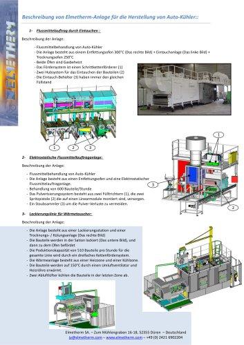 Anlage für die Herstellung von Auto-Kühler