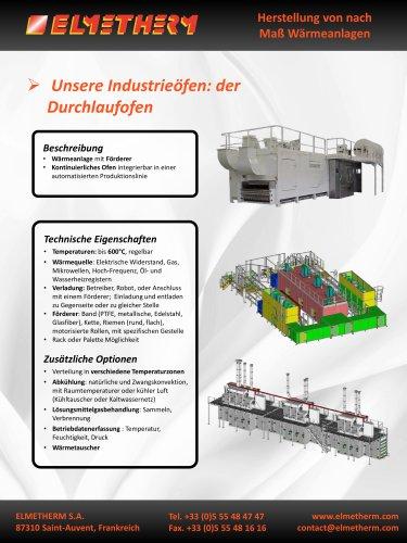Herstellung von Durchlauföfen