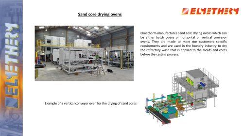 Sand core drying ovens