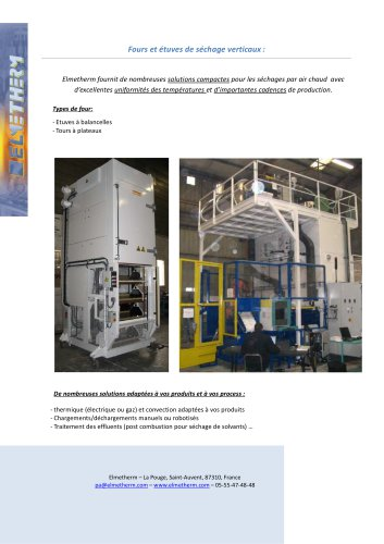 vertical drying oven and furnace