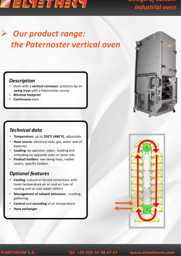 vertical process oven
