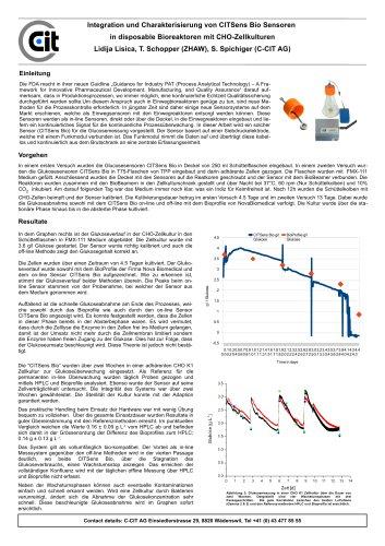 CITSens Bio Application Note Schuettler TFlaschen