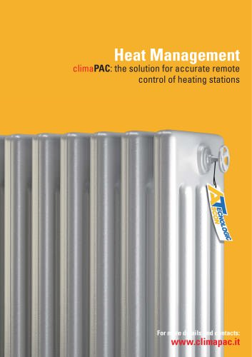 climaPAC- Heat Management - The solution for accurate remote control of heating stations