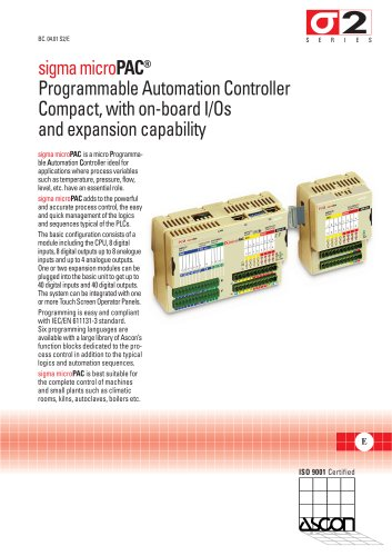 Compact Programmable Automation Controllers - Sigma microPAC Series