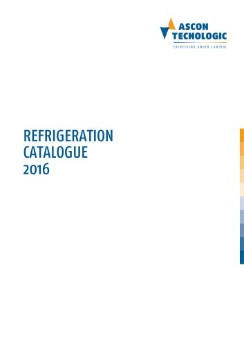 Refrigeration catalogue 2016