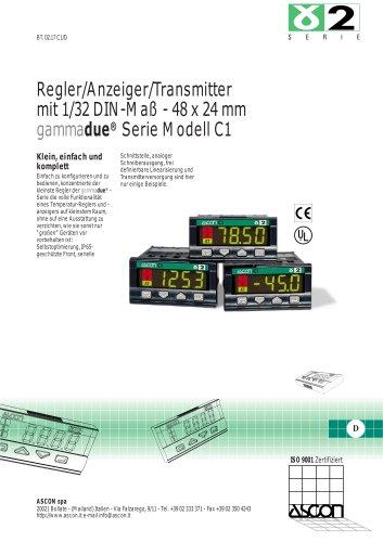 Regler / Anzeiger / Transmitter 1/32 DIN - 48 x 24 mm