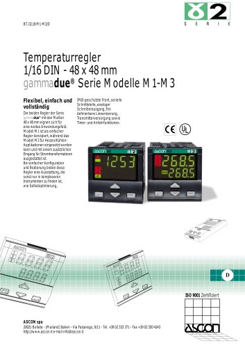 Temperaturregler 1/16 DIN - 48 x 48 mm