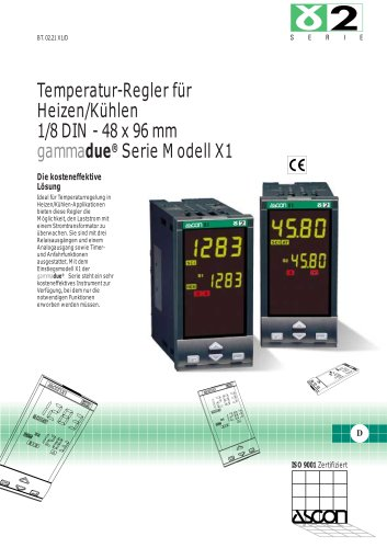 Temperaturregler für Heizen/Külen 1/8 DIN - 48 x 96 mm