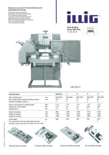 heat sealing press HSP 35b