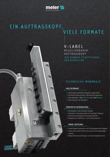 V-Label-Regulierbarer Auftragskopf