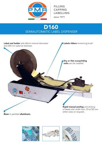D160 SEMIAUTOMATIC LABEL DISPENSER