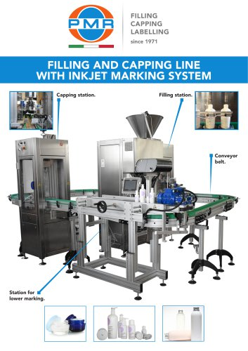FILLING & CAPPING LINE WITH INKJET MARKING SYSTEM