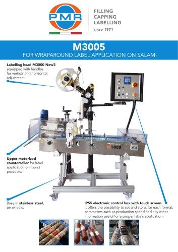 M3005 FOR WRAPAROUND LABEL APPLICATION ON SALAMI