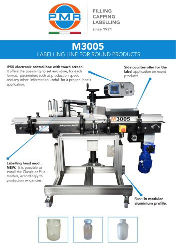 M3005 LABELLING LINE FOR ROUND PRODUCTS