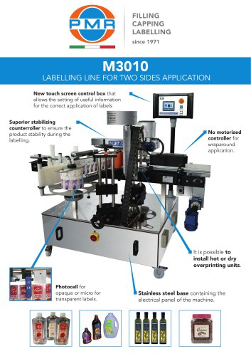 M3010 LABELLING LINE FOR 2 SIDES APPLICATION