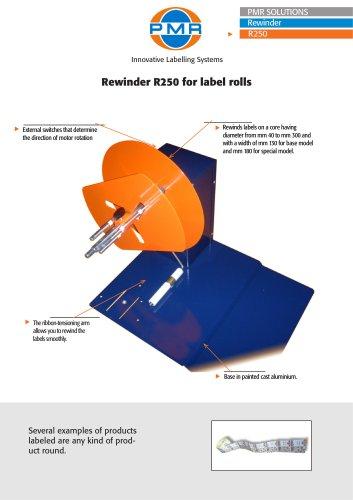 Rewinder R250 for label rolls