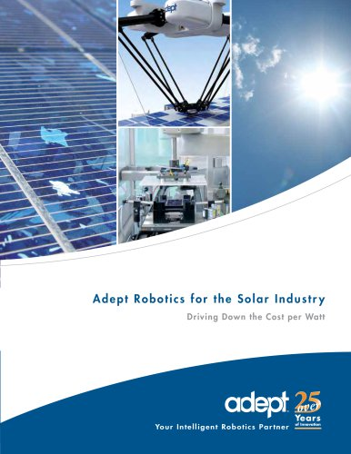 Adept Robotics for the Solar Industry