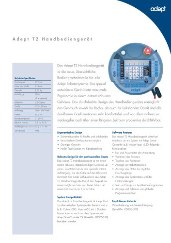 Adept T2 Handbediengerät