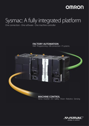 Sysmac: A fully integrated platform