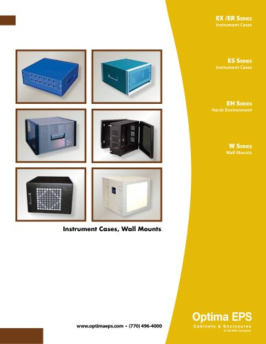 Optima Stantron Instrument Cases and Wall Mounts Catalog