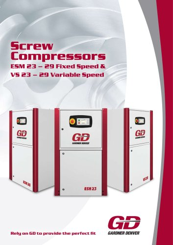 Screw Compressors ESM 23 ? 29 Fixed Speed & VS 23 ? 29 Variable Speed