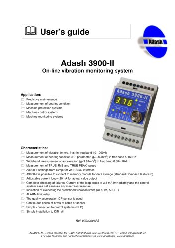 A3900 - Online condition monitoring system