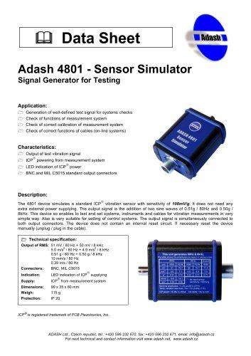 A4801 - Sensor Simulator