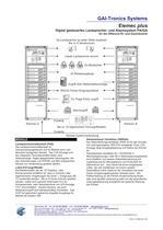 Elemec plus Digital gesteuertes Lautsprecher- und Alarmsystem PA/GA - 2