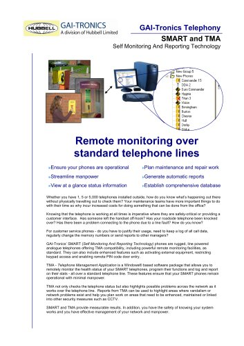 SMART and TMA - Remote monitoring over standard telephone lines
