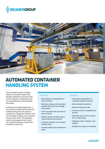 BEUMER Automated Container Handling System