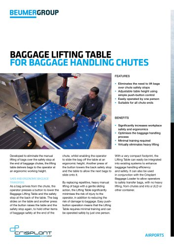 BEUMER Baggage Lifting Table