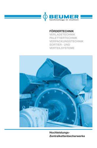 BEUMER Hochleistungs-Zentralkettenbecherwerke