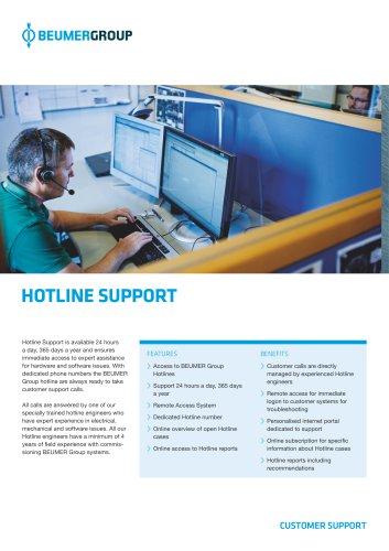 BEUMER Hotline Support
