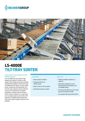 BEUMER LS-4000E Tilt Tray Sorter