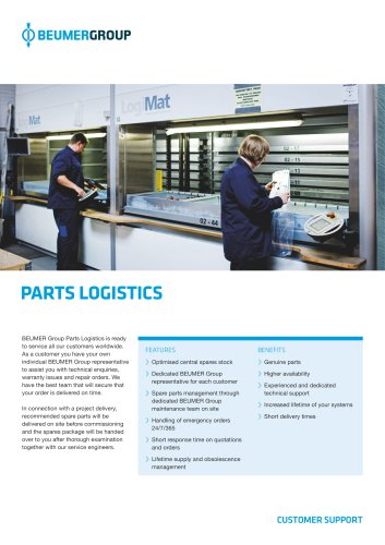 BEUMER Parts Logistics