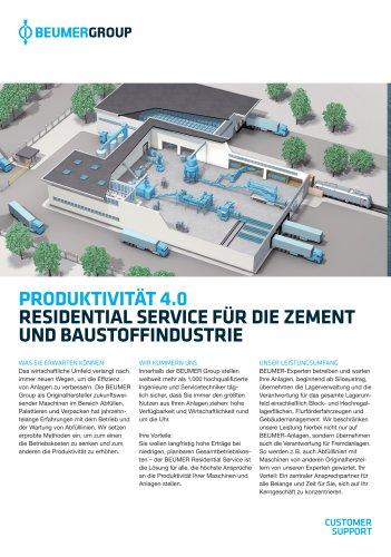 BEUMER Residential Service für die Zement- und Baustoffindustrie