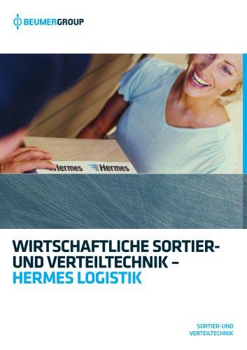 BEUMER Sortier- und Verteiltechnik für Hermes Logistik