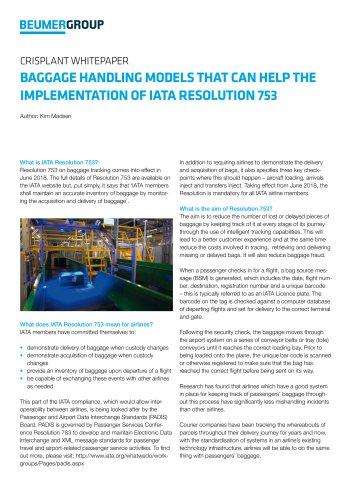 BEUMER Whitepaper IATA Resolution