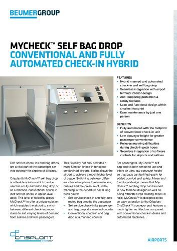 Crisplant MyCheck? Self Bag Drop