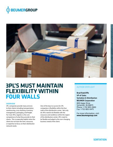 Whitepaper: 3PL's must maintain flexibility within four walls