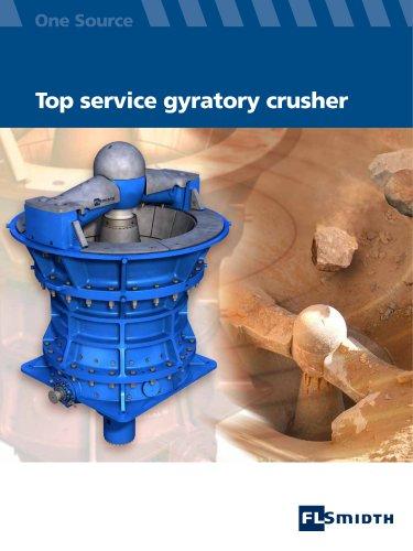 Top service gyratory crusher