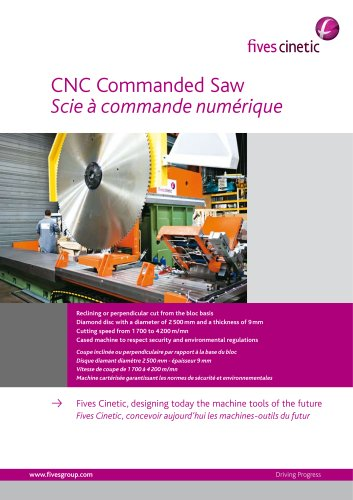 CNC Commanded Saw